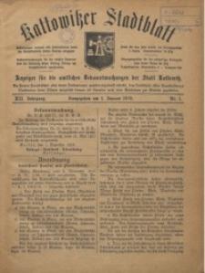 Kattowitzer Stadtblatt, 1919, Jg. 12, nr1