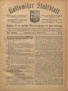Kattowitzer Stadtblatt, 1919, Jg. 12, nr2