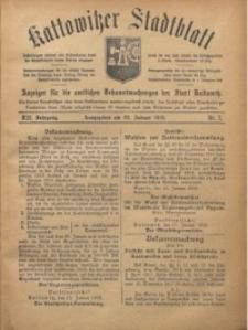 Kattowitzer Stadtblatt, 1919, Jg. 12, nr7