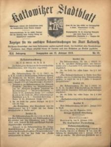 Kattowitzer Stadtblatt, 1919, Jg. 12, nr13