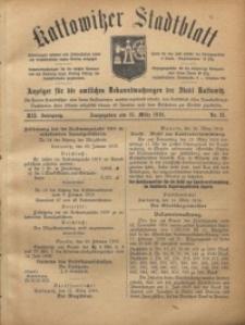 Kattowitzer Stadtblatt, 1919, Jg. 12, nr21