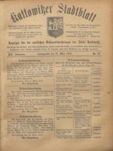 Kattowitzer Stadtblatt, 1919, Jg. 12, nr22