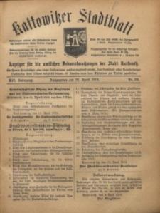 Kattowitzer Stadtblatt, 1919, Jg. 12, nr29
