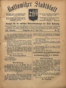 Kattowitzer Stadtblatt, 1919, Jg. 12, nr45