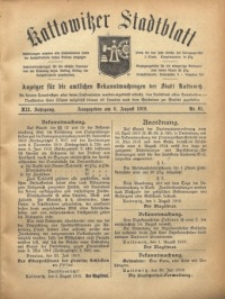 Kattowitzer Stadtblatt, 1919, Jg. 12, nr61