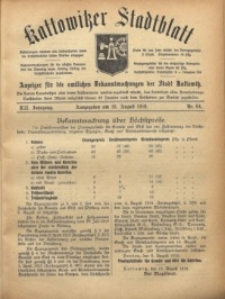 Kattowitzer Stadtblatt, 1919, Jg. 12, nr64