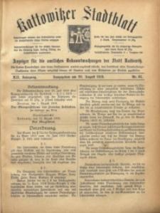 Kattowitzer Stadtblatt, 1919, Jg. 12, nr65