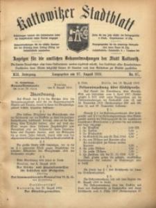 Kattowitzer Stadtblatt, 1919, Jg. 12, nr67