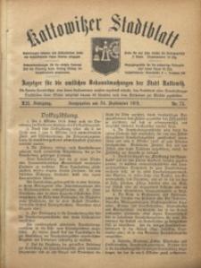 Kattowitzer Stadtblatt, 1919, Jg. 12, nr75
