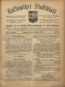 Kattowitzer Stadtblatt, 1919, Jg. 12, nr78