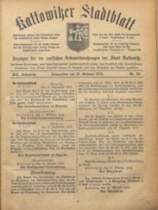 Kattowitzer Stadtblatt, 1919, Jg. 12, nr82