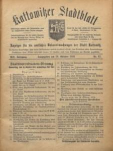 Kattowitzer Stadtblatt, 1919, Jg. 12, nr85