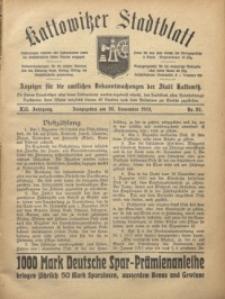 Kattowitzer Stadtblatt, 1919, Jg. 12, nr92