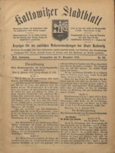 Kattowitzer Stadtblatt, 1919, Jg. 12, nr99