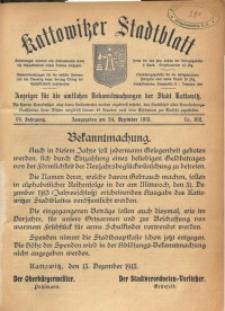 Kattowitzer Stadtblatt, 1913, Jg. 6, nr102