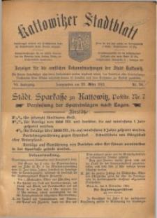 Kattowitzer Stadtblatt, 1913, Jg. 6, nr24