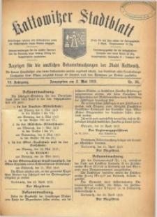 Kattowitzer Stadtblatt, 1913, Jg. 6, nr36