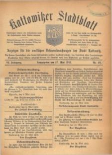 Kattowitzer Stadtblatt, 1913, Jg. 6, nr40