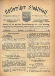 Kattowitzer Stadtblatt, 1913, Jg. 6, nr41
