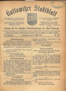 Kattowitzer Stadtblatt, 1913, Jg. 6, nr44