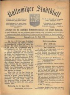 Kattowitzer Stadtblatt, 1913, Jg. 6, nr47