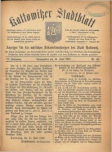 Kattowitzer Stadtblatt, 1913, Jg. 6, nr48