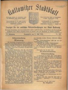 Kattowitzer Stadtblatt, 1913, Jg. 6, nr53