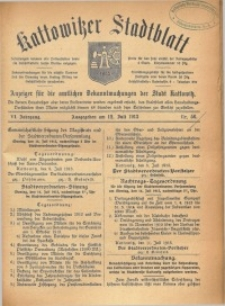 Kattowitzer Stadtblatt, 1913, Jg. 6, nr56