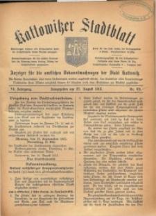 Kattowitzer Stadtblatt, 1913, Jg. 6, nr69