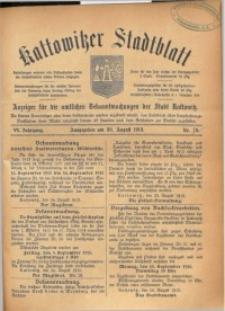 Kattowitzer Stadtblatt, 1913, Jg. 6, nr70