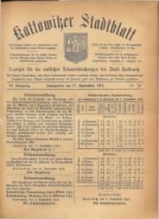 Kattowitzer Stadtblatt, 1913, Jg. 6, nr75