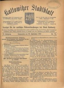 Kattowitzer Stadtblatt, 1913, Jg. 6, nr76