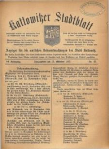 Kattowitzer Stadtblatt, 1913, Jg. 6, nr83