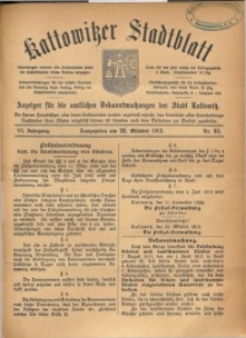 Kattowitzer Stadtblatt, 1913, Jg. 6, nr85
