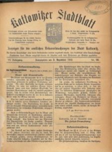 Kattowitzer Stadtblatt, 1913, Jg. 6, nr96