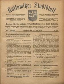 Kattowitzer Stadtblatt, 1919, Jg. 12, nr 50