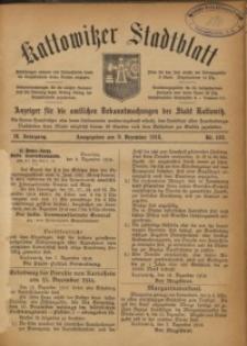 Kattowitzer Stadtblatt, 1916, Jg. 9, nr102