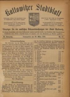 Kattowitzer Stadtblatt, 1916, Jg. 9, nr27