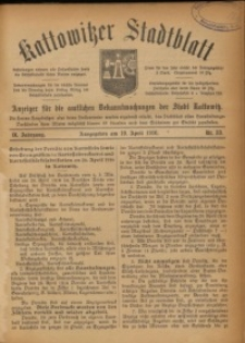Kattowitzer Stadtblatt, 1916, Jg. 9, nr33