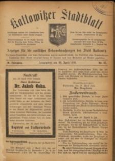 Kattowitzer Stadtblatt, 1916, Jg. 9, nr35
