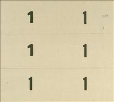 Karton z 6 odcinkami numerów wyborczych