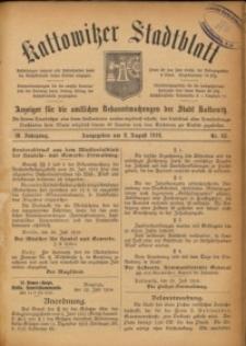 Kattowitzer Stadtblatt, 1916, Jg. 9, nr63
