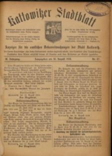 Kattowitzer Stadtblatt, 1916, Jg. 9, nr67