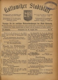 Kattowitzer Stadtblatt, 1916, Jg. 9, nr69