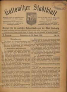Kattowitzer Stadtblatt, 1916, Jg. 9, nr70