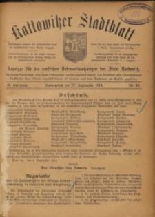 Kattowitzer Stadtblatt, 1916, Jg. 9, nr80