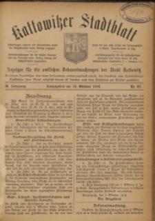 Kattowitzer Stadtblatt, 1916, Jg. 9, nr85