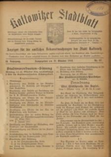 Kattowitzer Stadtblatt, 1916, Jg. 9, nr87