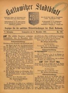 Kattowitzer Stadtblatt, 1912, Jg. 5, nr102