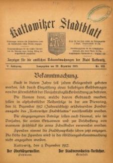 Kattowitzer Stadtblatt, 1912, Jg. 5, nr103